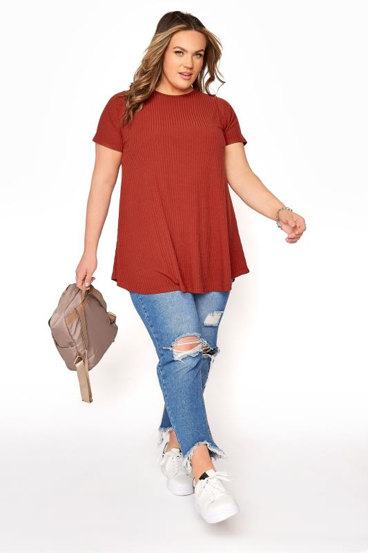 LIMITED COLLECTION Rust Rib Swing Top
