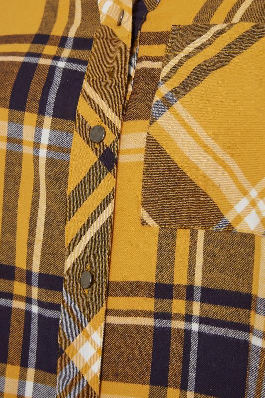 Mustard Yellow Check Raglan Boyfriend Shirt_S.jpg
