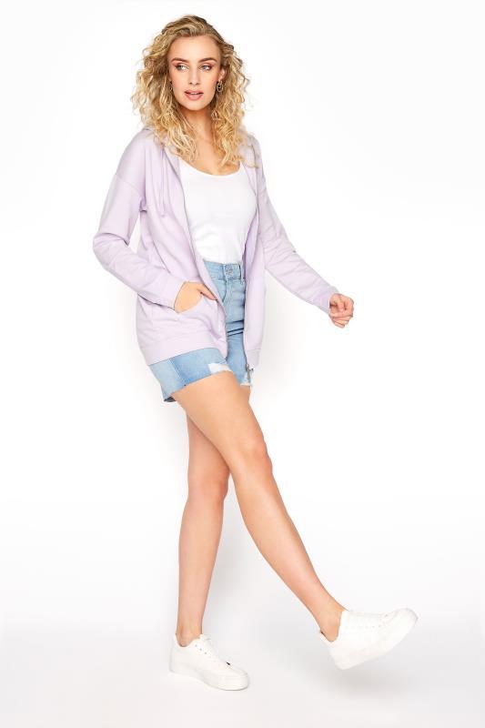 LTS Lilac Zipper Hoodie