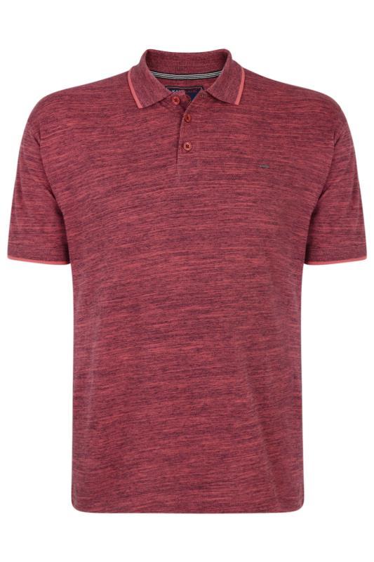 KAM Burgundy Marl Polo Shirt