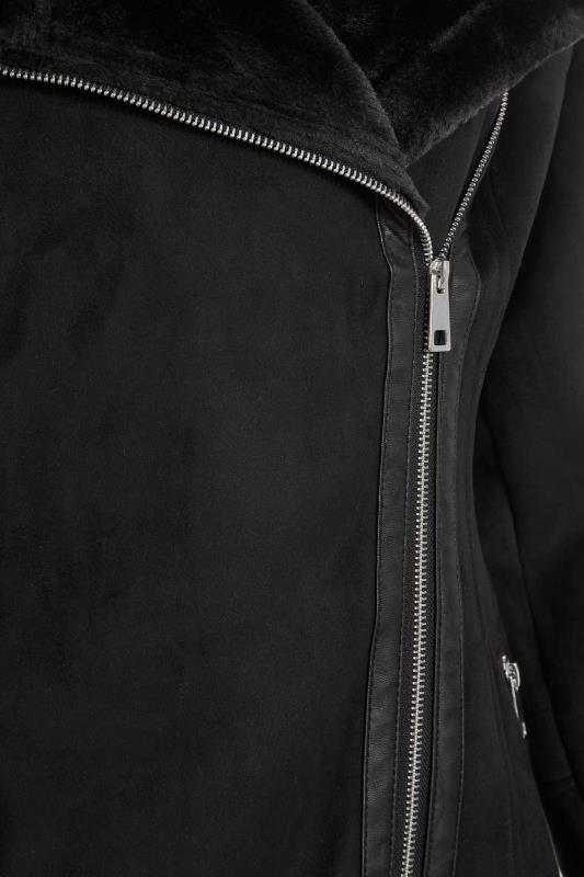 LTS Black Faux Fur Trim Aviator Jacket_S.jpg