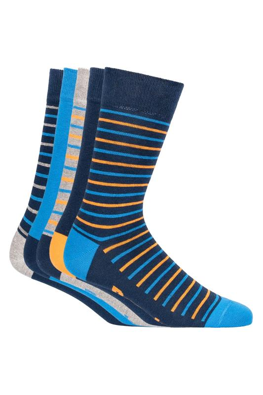 Plus Size Casual / Every Day BENCH 5 PACK Multi Stripe Javier Crew Socks