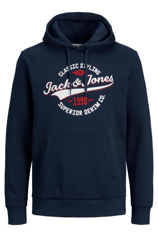 Men's  JACK & JONES Navy Logo Printed Hoodie