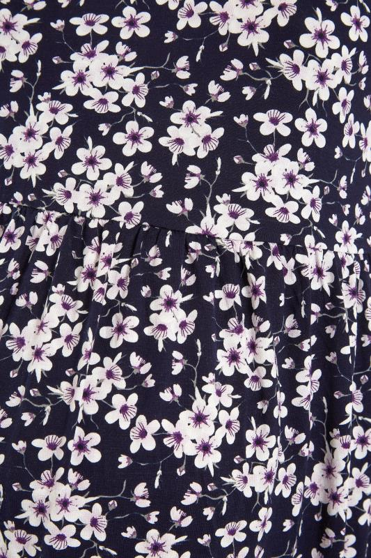 BUMP IT UP MATERNITY Purple Floral Smock Top_S.jpg