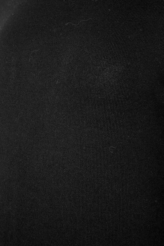 LTS Black Knitted Roll Neck A-Line Midi Dress_S.jpg