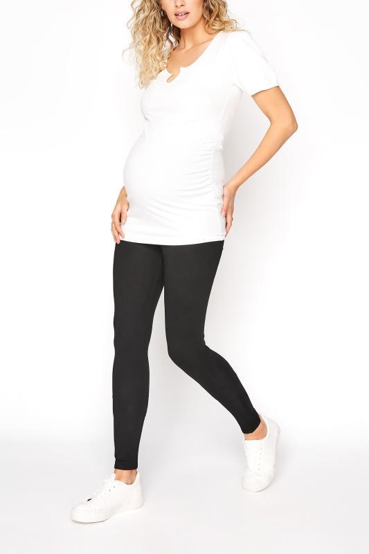 Tall  LTS Maternity Black Jersey Leggings