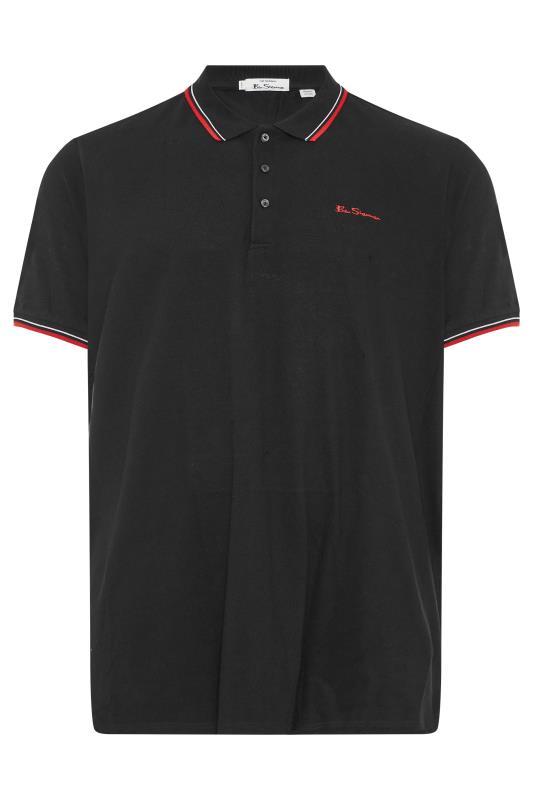 BEN SHERMAN Black Tipped Polo Shirt