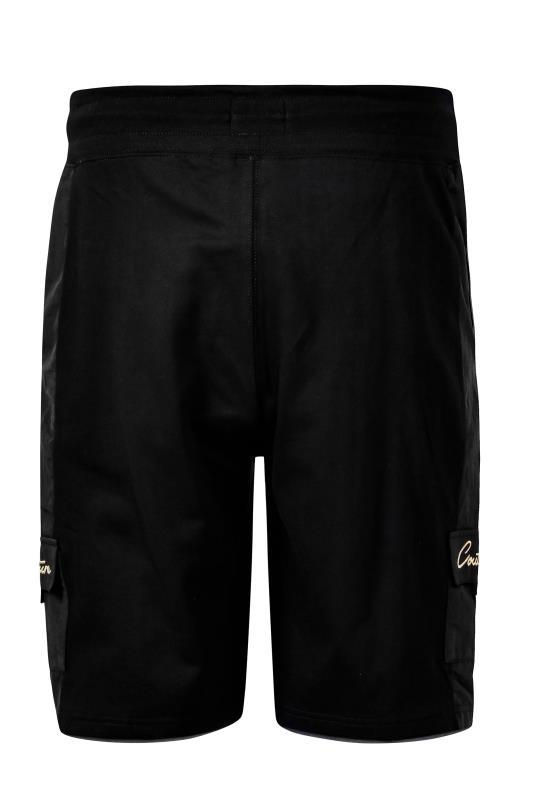 D555 Black Couture Cargo Shorts