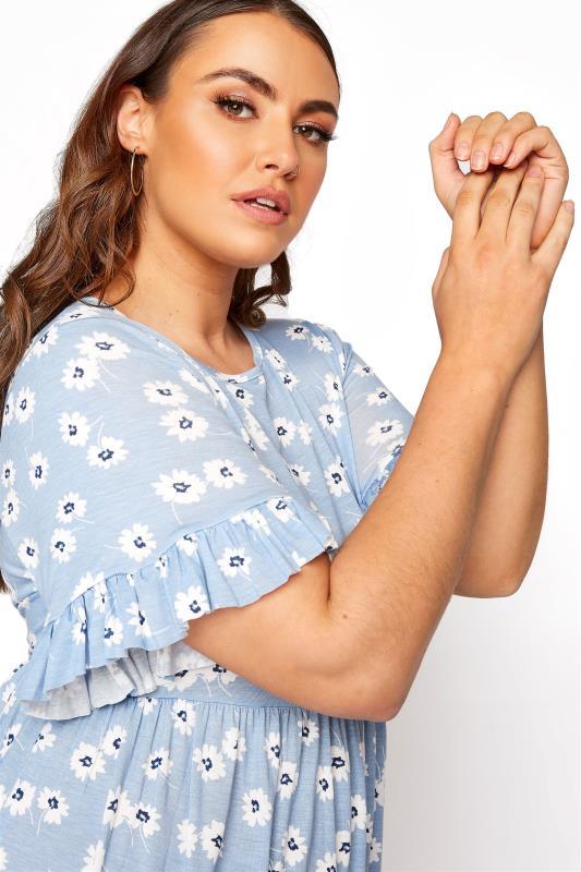 Pastel Blue Floral Frill Sleeve Dress_D.jpg