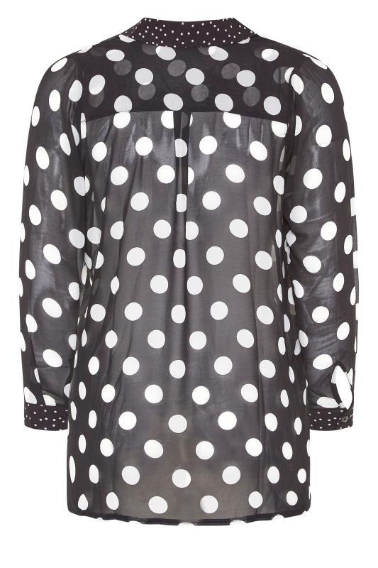 YOURS LONDON Black Polka Dot Boyfriend Shirt_BK.jpg