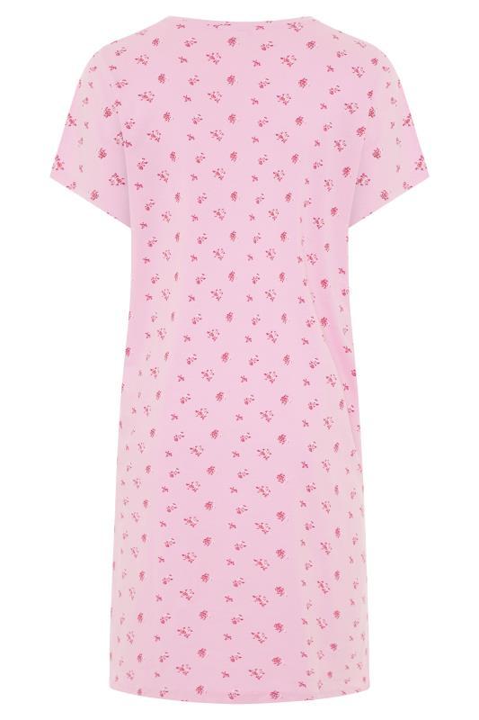 Pink Floral 'She Just Shines' Slogan Nightdress_BK.jpg