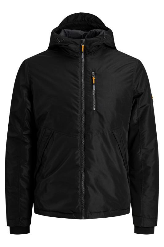 Plus Size  JACK & JONES Black Hooded Jacket