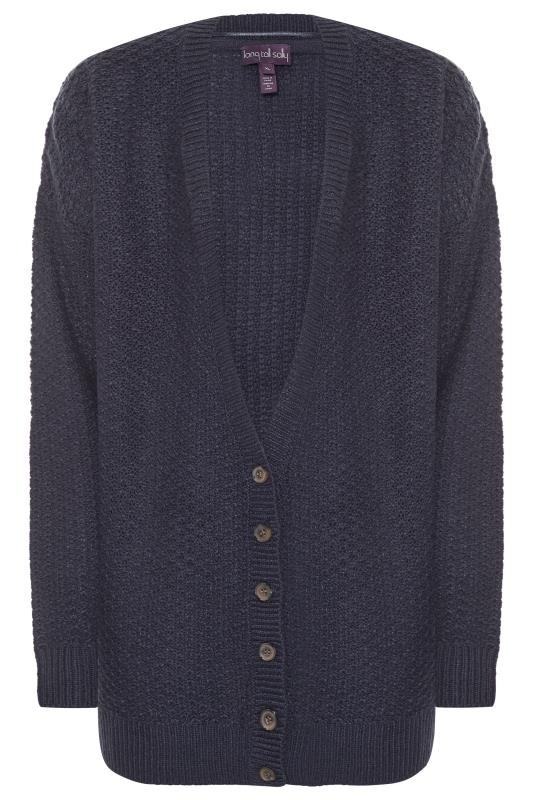 Navy Chunky Knitted Cardigan