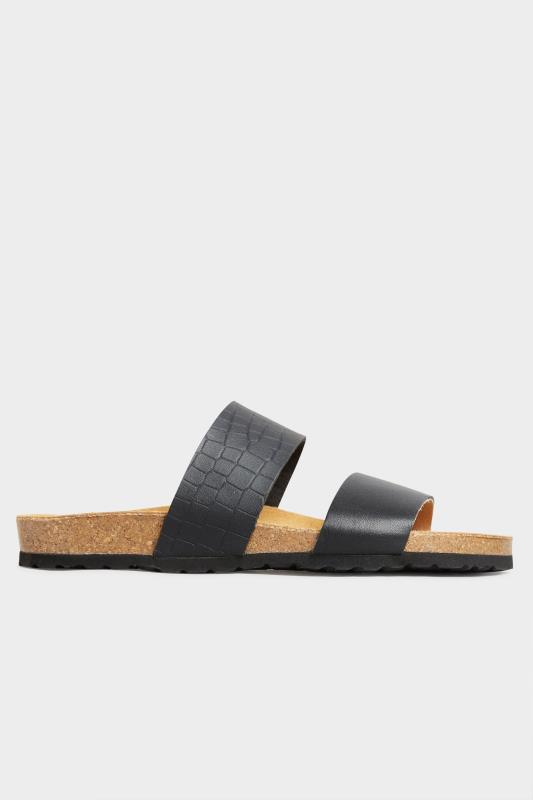 Black Leather Two Strap Footbed Sandals_A.jpg