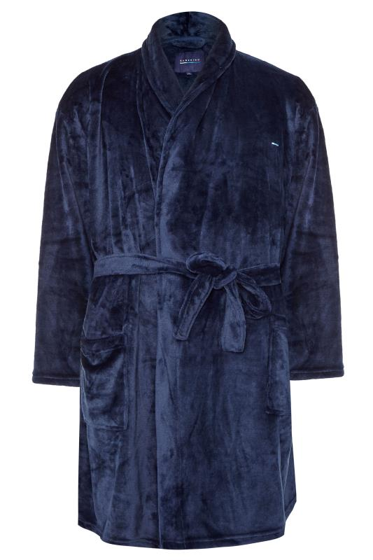 Men's Casual / Every Day BadRhino Navy Soft Dressing Gown