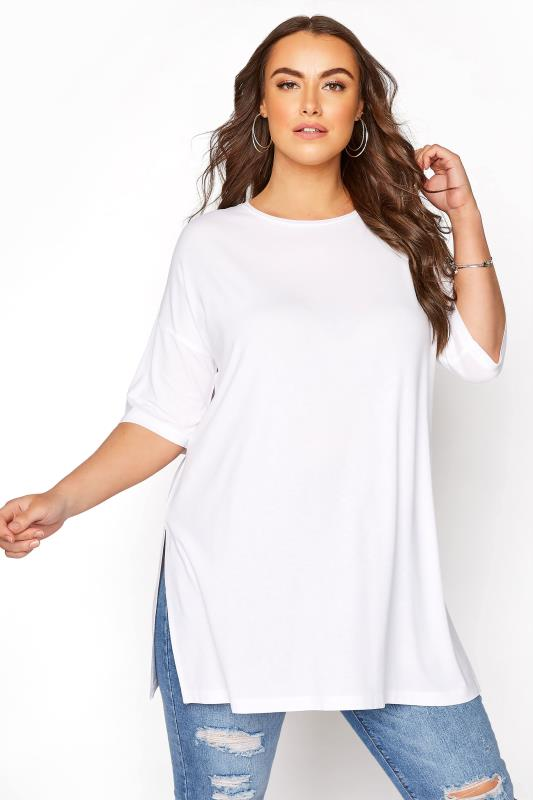 Tallas Grandes White Oversized T-Shirt