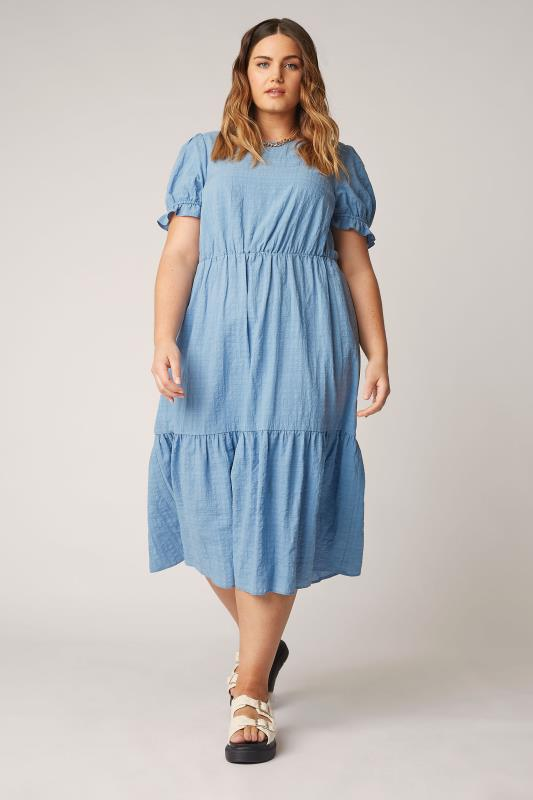 THE LIMITED EDIT Blue Smock Midi Dress_A.jpg