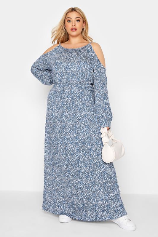 Blue Floral Cold Shoulder Maxi Dress_B.jpg