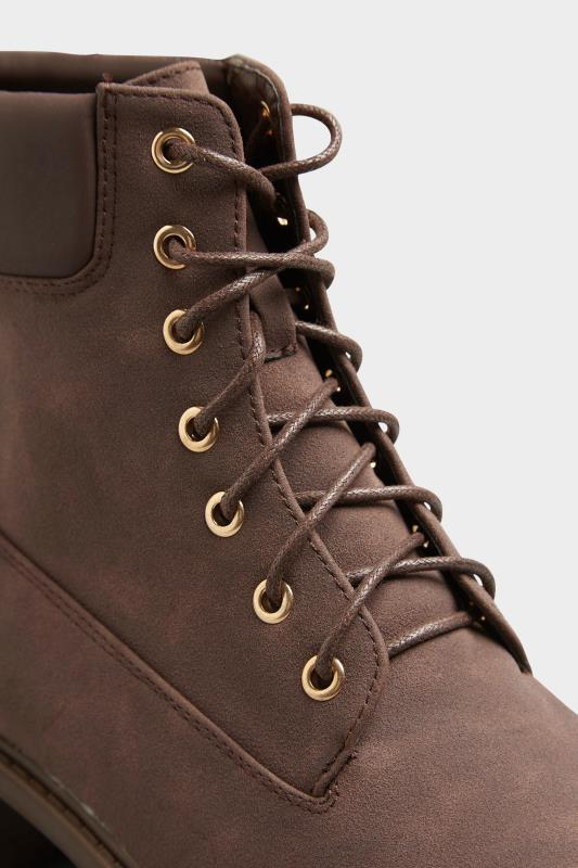 Chocolate Brown Chunky Lace Up Boots In Extra Wide Fit_E.jpg