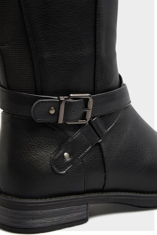 Black Faux Leather Knee High Boots In Extra Wide Fit_D.jpg