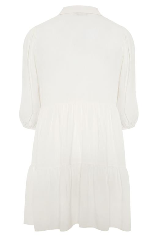 THE LIMITED EDIT White Tiered Smock Tunic Top_BK.jpg