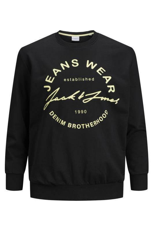 Men's  JACK & JONES Black Hero Slogan Sweatshirt