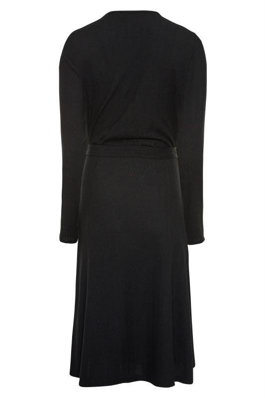 LTS Black Textured Wrap Dress_BK.jpg