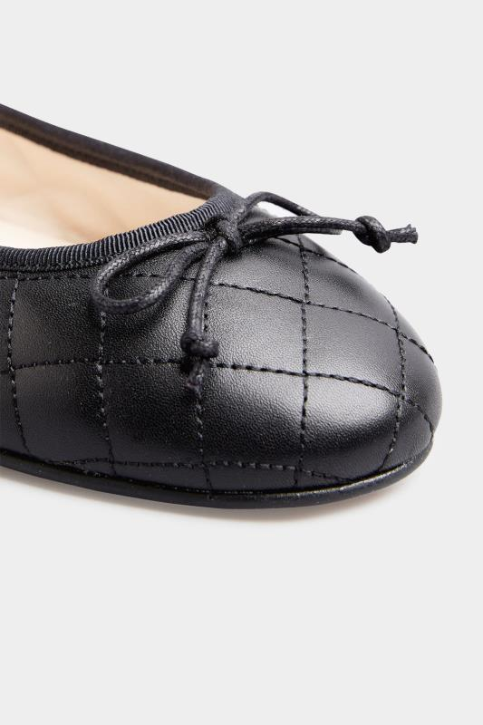 LTS Black Leather Quilted Ballet Pumps_E.jpg