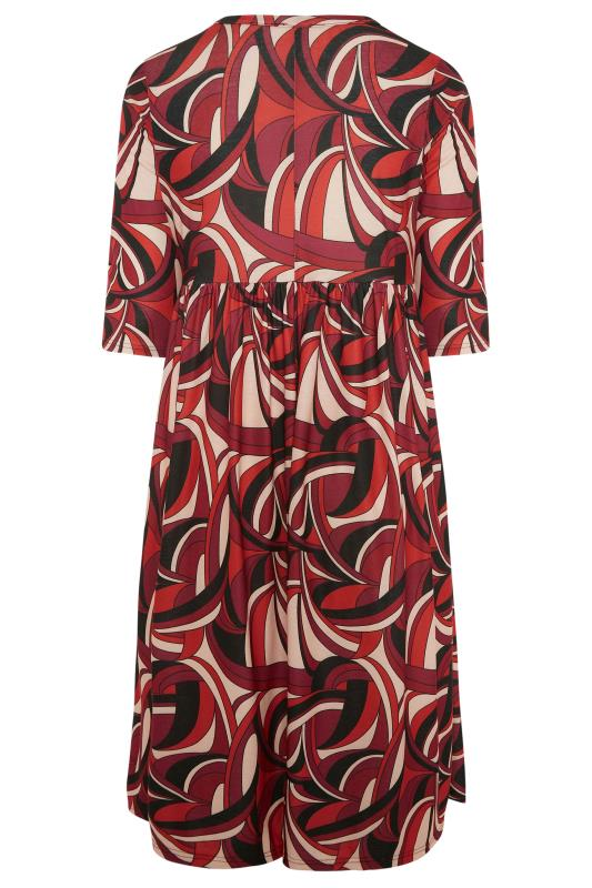 LIMITED COLLECTION Red Abstract Print Midaxi Dress_BK.jpg