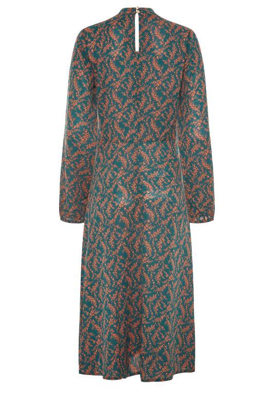 LTS Green Floral Print Fit & Flare Midaxi Dress_BK.jpg