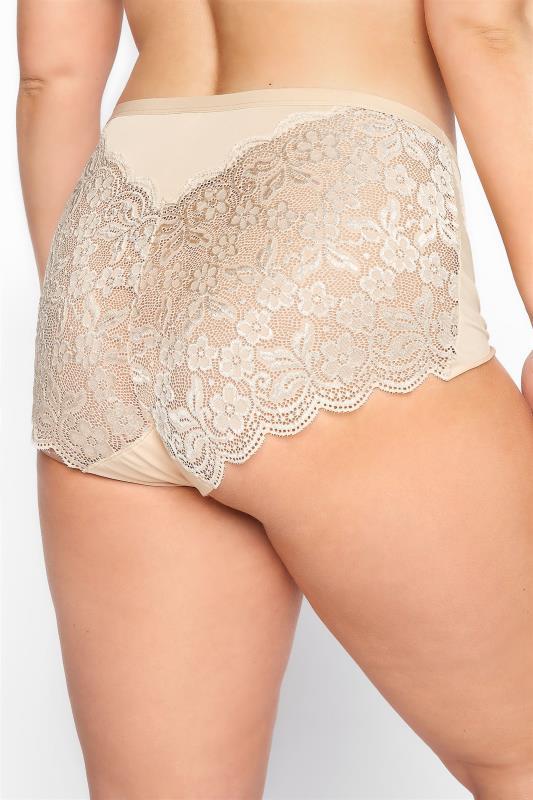Nude Lace Back Briefs