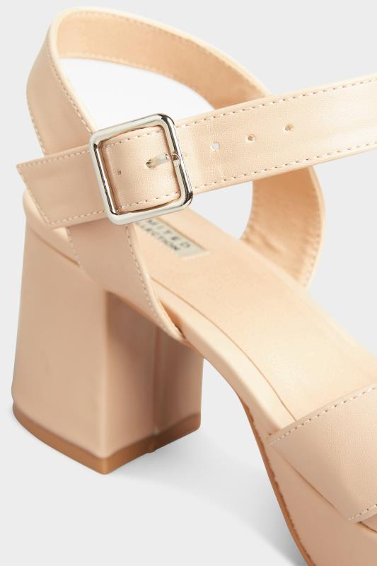 LIMITED COLLECTION Nude Platform Heeled Sandals In Extra Wide Fit_D.jpg