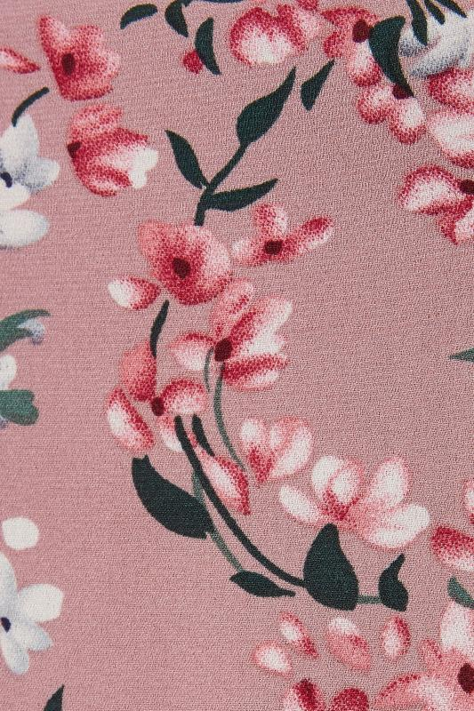 LTS Pink Floral Wrap Front Maxi Dress_S.jpg