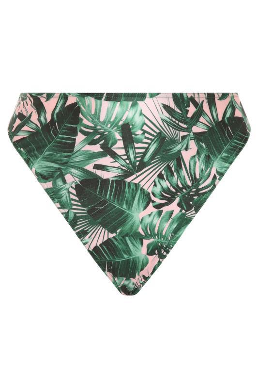 LIMITED COLLECTION Green Palm High Leg Bikini Briefs_F.jpg