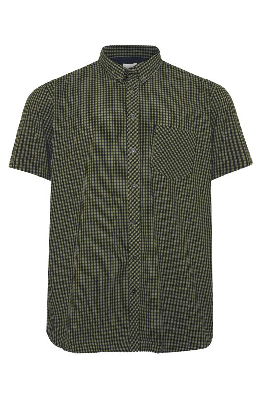 Plus Size  BEN SHERMAN Green Check Signature Short Sleeve Shirt