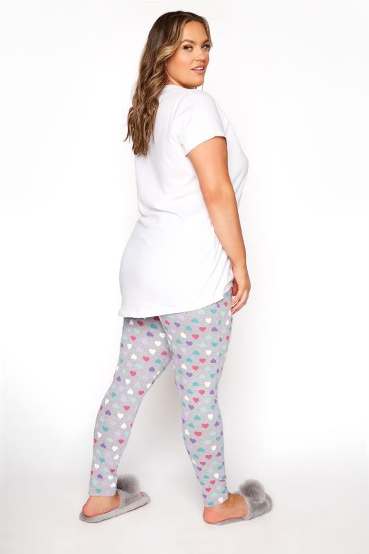 White 'It's Cool To Be Kind' Heart Pyjama Set_C.jpg