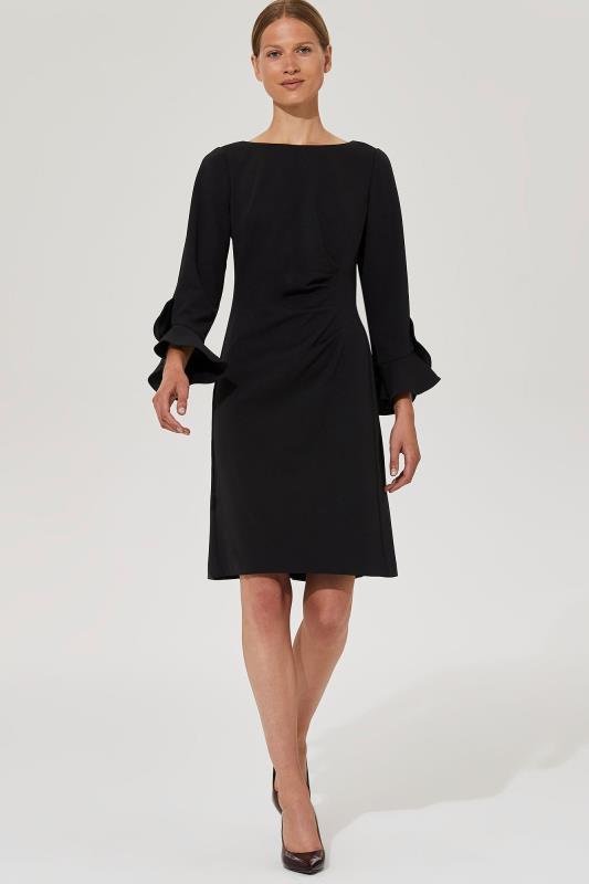 Karl Lagerfeld Paris Flared Sleeve Ruched Dress