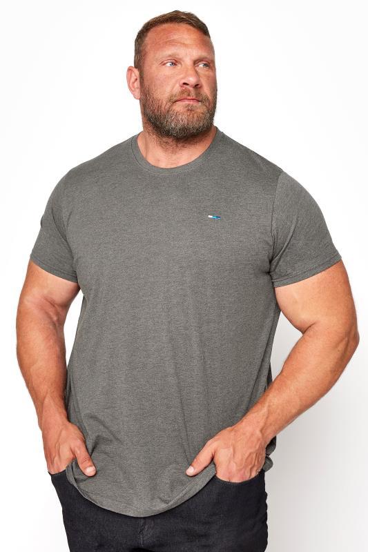 Men's T-Shirts BadRhino Charcoal Grey Plain T-Shirt