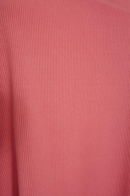 LIMITED COLLECTION Pink Frill Ribbed Pyjama Top_S.jpg