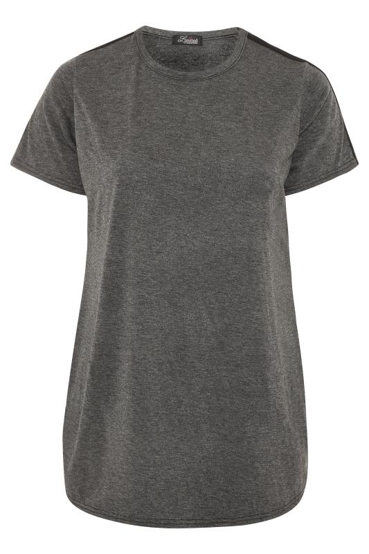 LIMITED COLLECTION Charcoal Grey Tape T-Shirt