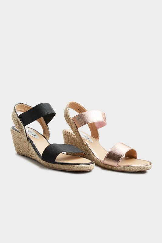 Rose Gold Espadrille Wedge Sandals In Wide Fit_F.jpg