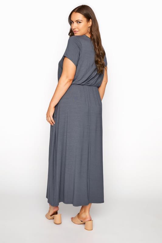 YOURS LONDON Grey Pocket Maxi Dress_C.jpg
