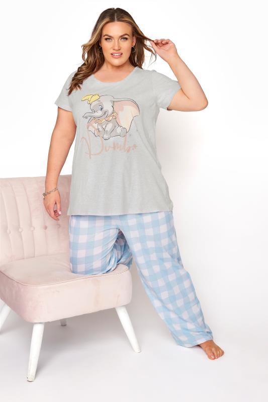 DISNEY Grey Dumbo Check Print Pyjama Set_B.jpg