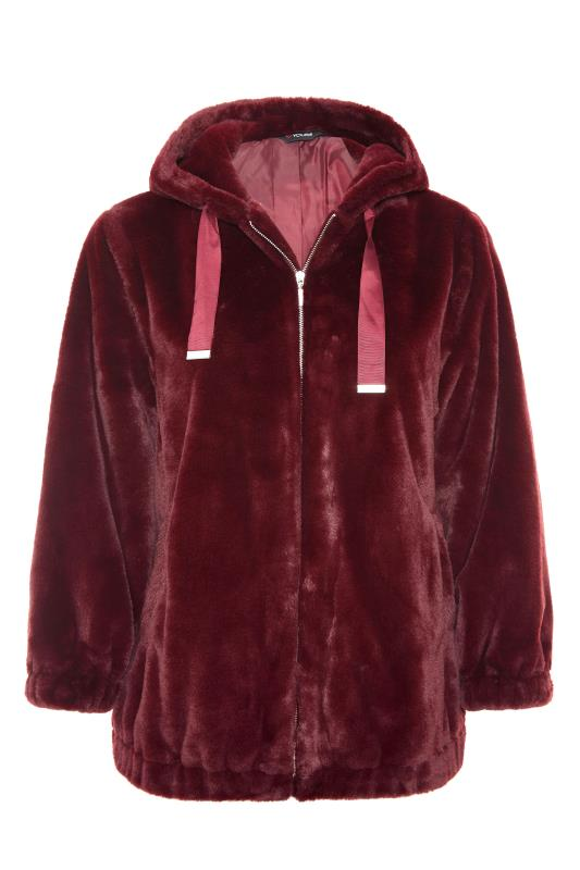 Burgundy Faux Fur Oversized Jacket_F.jpg