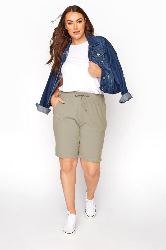 Khaki Cool Cotton Shorts_B.jpg