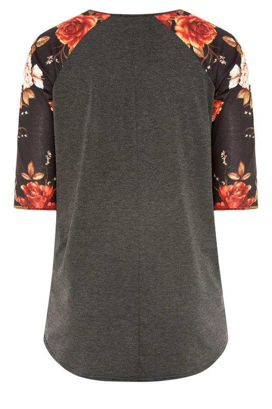 LIMITED COLLECTION Charcoal Floral Top_BK.jpg