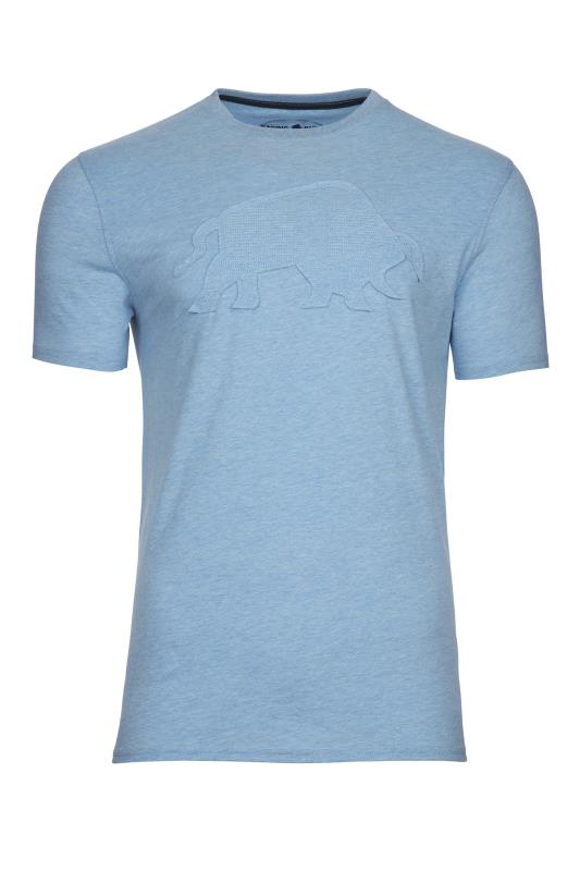 Plus Size  RAGING BULL Blue Embroidered Bull T-Shirt