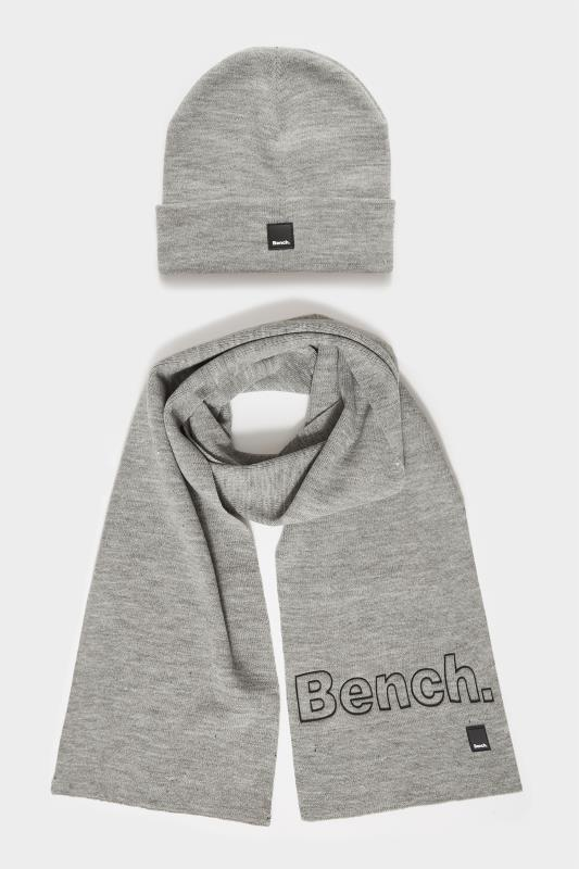 BENCH Grey Knitted Hat & Scarf Set