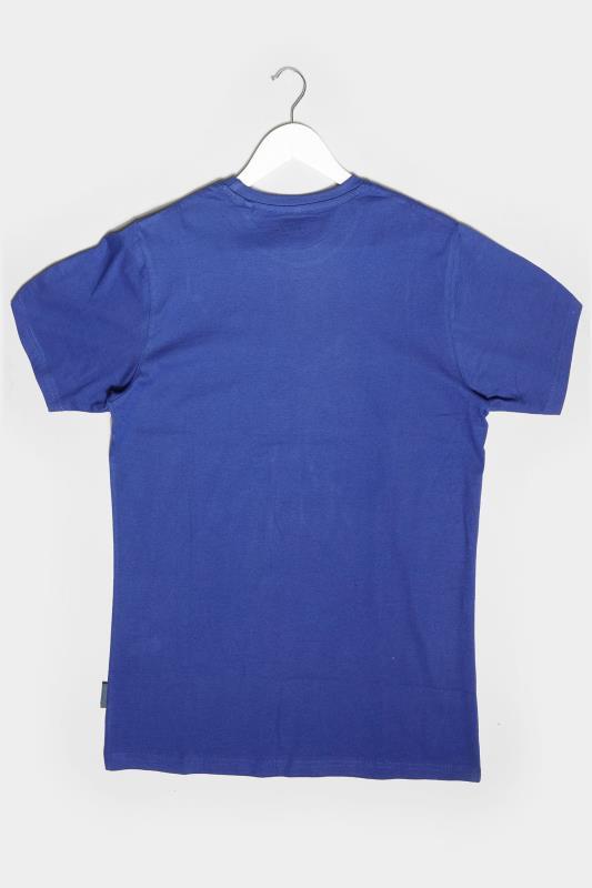 BadRhino Royal Blue Motorcross Graphic Print T-Shirt