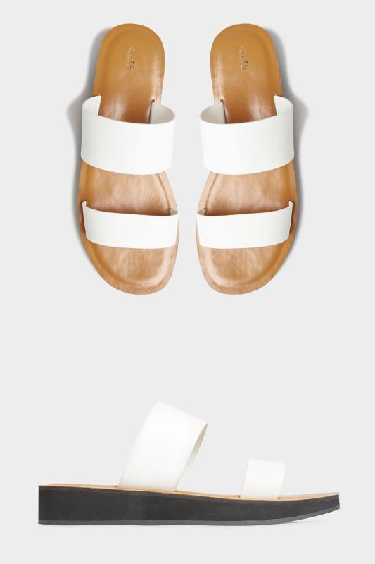 LTS White Two Strap Flat Sandals_split.jpg